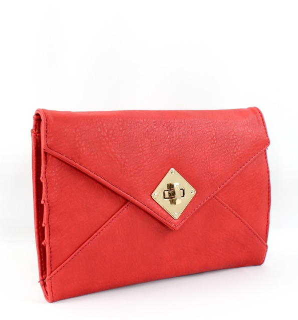LOCK ENVELOPE CLUTCH - orangeshine.com