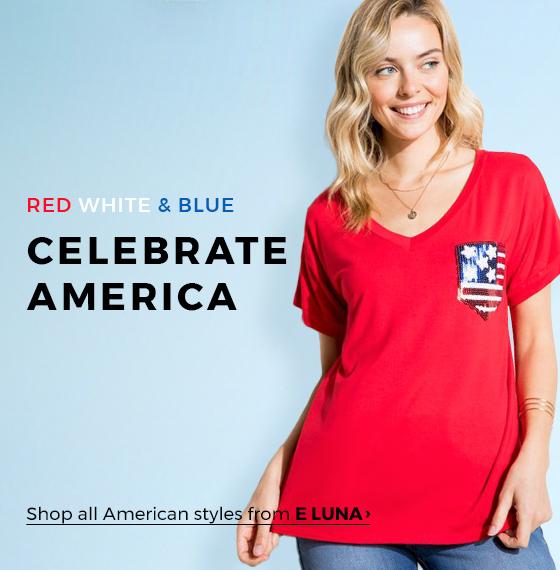 RED, WHITE AND BLUE! CELEBRATE AMERICA - orangeshine.com TREND.